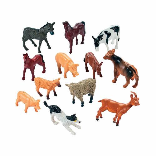 12 Pieces Toys 12 Farm Animal Friends