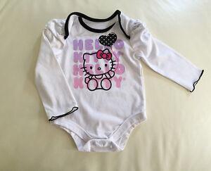 Licensed-Hello-Kitty-Long-Sleeve-Baby-Girl-Bodysuit-Romper-size-0-3-6-9-12-mos
