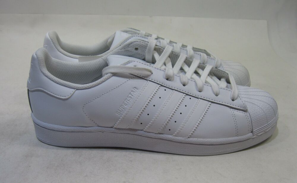 Adidas Superstar Foundation homme B27136 blanc Leather Shell Toe chaussures Taille 9.5
