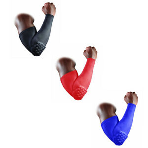 Crashproof-Honeycomb-Pad-Football-Basketball-Shooting-Arm-Sleeve-Elbow-Support-A
