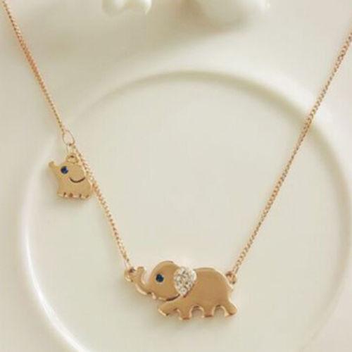Fashion Elephant Pendant Chain Choker Gold Necklace Women Lady Jewelry Gift