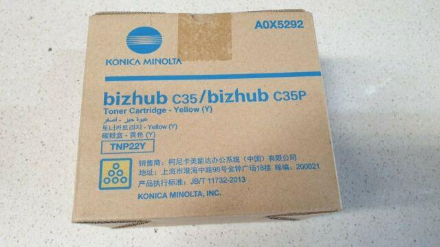 Genuine Konica Minolta Bizhub C35 Yellow Toner TNP22Y A0X5292 Brand New See Pics