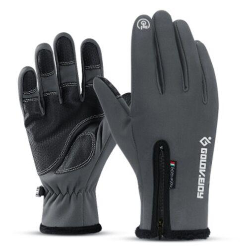 Winter Full Finger Bike Cycling Gloves Fleece Thermal Windproof Waterproof Glove