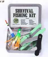 Survival Fishing Kit Tin Compact Fishing Survival Kit Bug Out Bag Fishing Kit