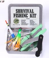 Survival Fishing Kit Tin Compact Fishing Survival Kit Bug Out Bag Fishing Kit