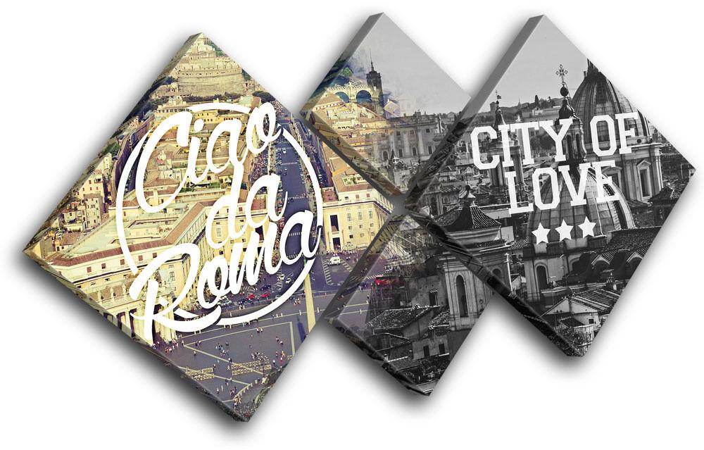 Rome Typography City MULTI MULTI MULTI TELA parete arte foto stampa 888b7d