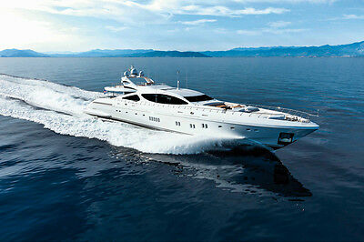 MANGUSTA 92 SUPER YACHT BOAT POSTER PRINT 24x36 HIGH RES 9MIL PAPER