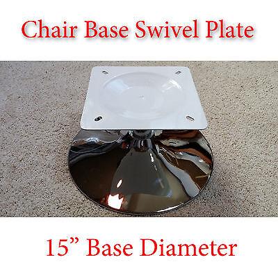 1pc - 15 inch - Chrome Chair Base w/ Full Ball Bearing Flat Swivel Plate DIY