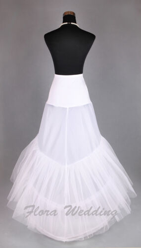 2-Hoop Lycra Fishtail Mermaid Train Petticoat//Double Crinoline//Prom Underskirt