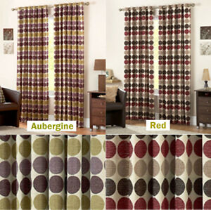 Image Is Loading Luxury Capri Circle Design Fully Lined Curtains In