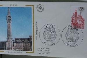 ENVELOPPE-PREMIER-JOUR-SOIE-1982-LILLE-ANNEE-DU-BEFFROI