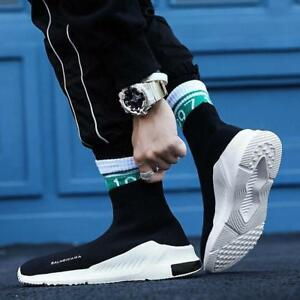 25583c97603f Image is loading Mens-Sneakers-Sports-Socks-Running-Casual-Breathable-Woven-