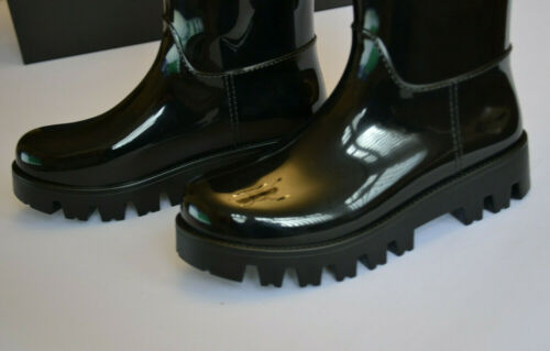 Sz Uk 3 35 amp; Gabbanna Shiny Wellington Dolce Womens Eu Boots Black Wellies 8Tqz1Ow