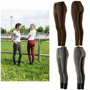 Equi-Theme Adult Junior Kids Pro Coton Stretch Knit Style Horse Riding Breeches