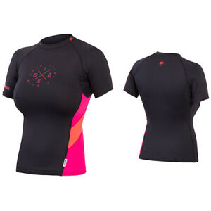 Jobe-Damen-Rash-Guard-Lycra-Rashguard-Badeshirt-Surfshirt-UV-shirt-Black