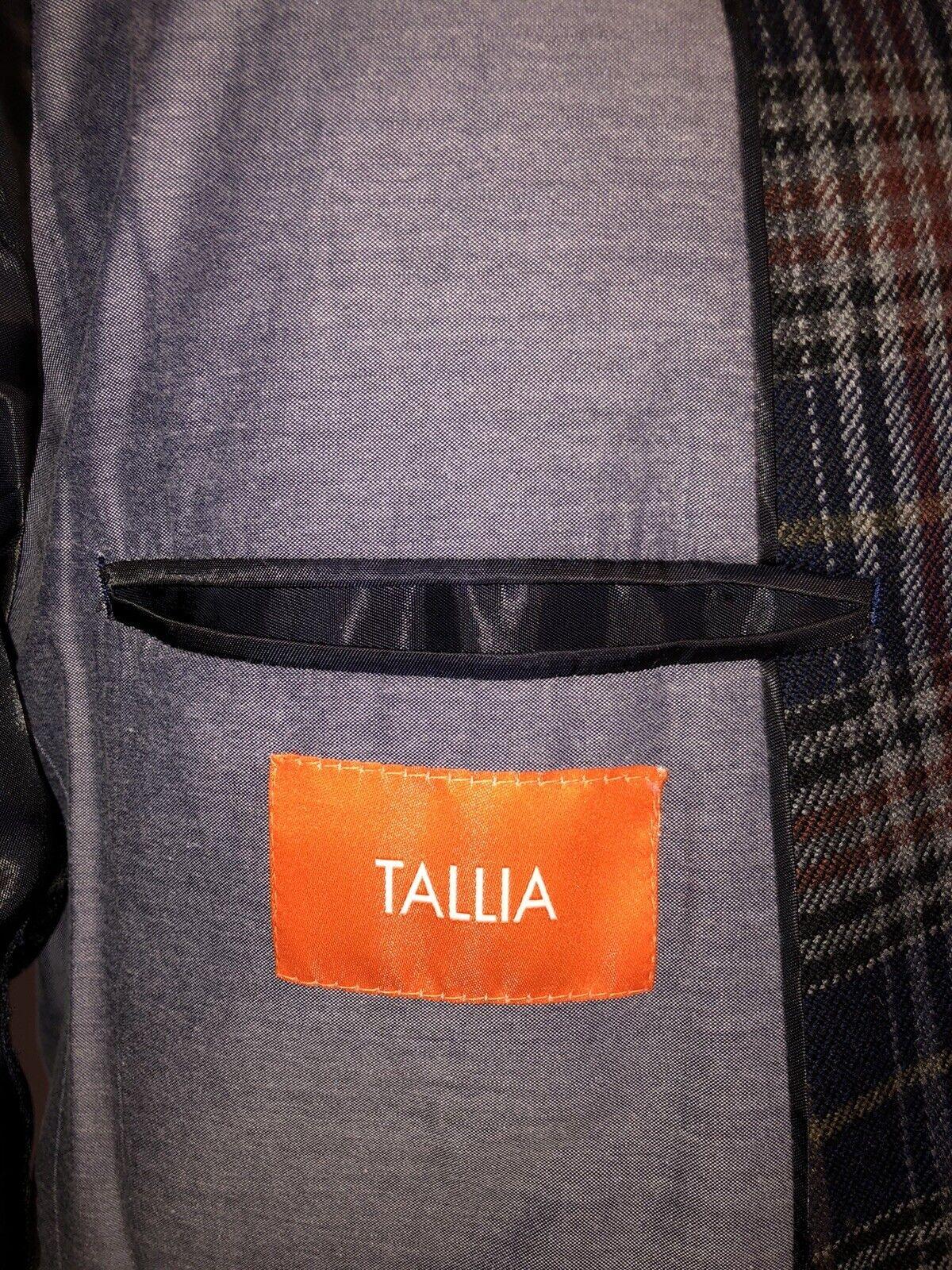 Tallia Blue Multi Color Sport Coat Jacket 42R - image 7