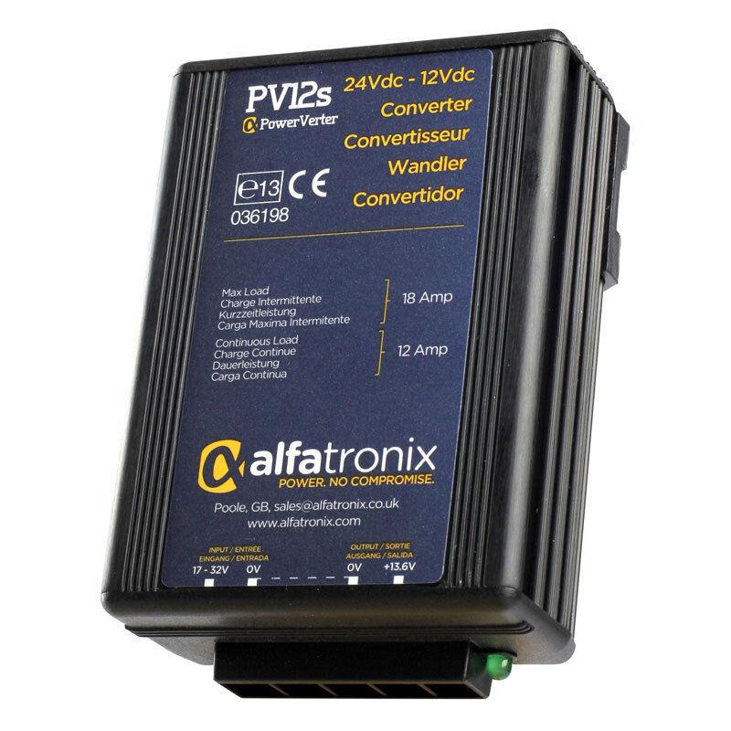 Alfatronix PV12S 24VDC to 12VDC Converter non-isolée (Commune de la Terre) - 12 A cont