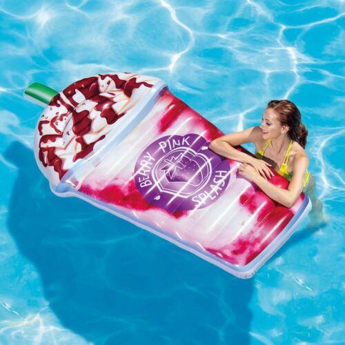 Intex Inflatable Berry Pink Splash Milkshake piscine Float Lounger Beach Mattress