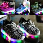 New Children Boys Girls Running shoes Luminous Sneakers Led Light Up Kids shoes
