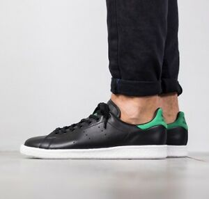 new arrival 3b529 f9b93 adidas Originals Stan Smith BOOST Black Green Shoes Sneakers ...