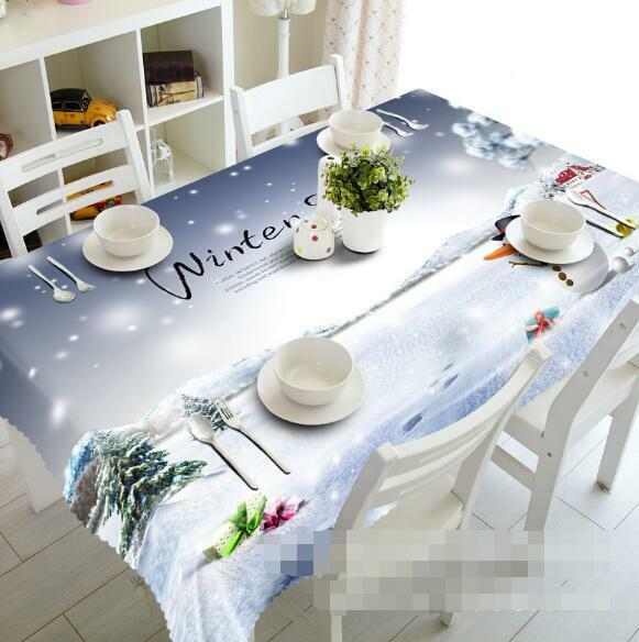 3D Snow Winter 58 Tablecloth Table Cover Cloth Birthday Party Event AJ WALLPAPER