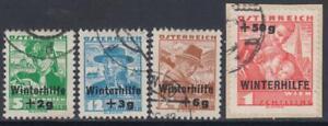 Austria-Osterreich-1935-Winterhilfe-complete-set-used