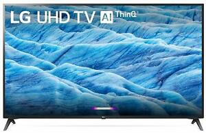 "LG 70UM7370PUA 70"" HDR 4K Ultra HD Smart LED TV (2019) w/ AI ThinQ"