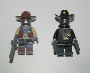 Lego-Lot-x2-Minifig-Figurine-Movie-Sherrif-Executron-amp-Accessoires-NEW