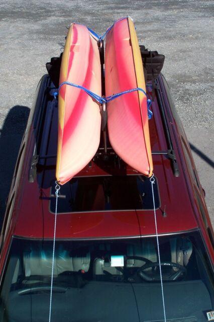 2 Sets Battleship Gray Roof Mounted Folding Kayak J-Style Racks PK-KR FOLD GRAY2