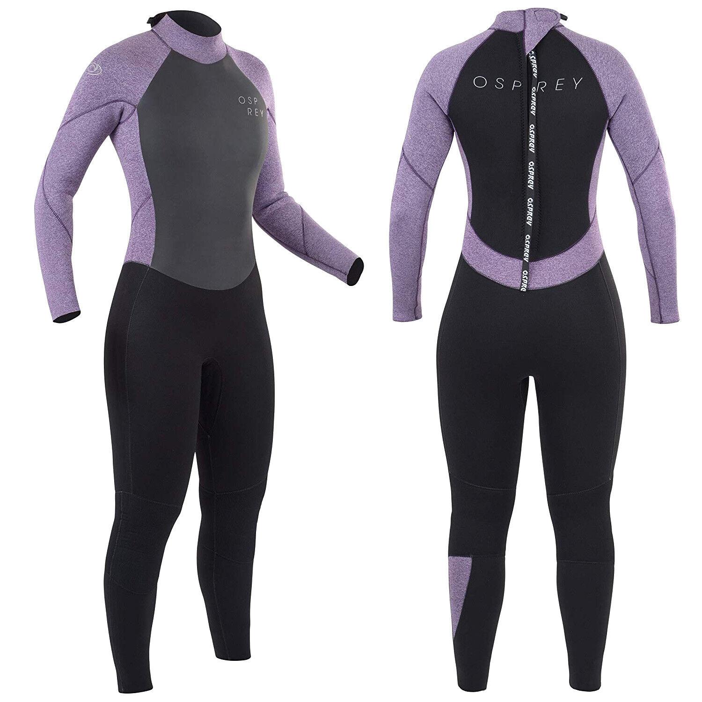 Osprey Zero Women's 5mm Winter Wetsuit Full Length Ladies Neoprene Purple Wet