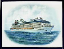 Original Art Work ...ms Quantum of the Seas...RCI... cruise ship..