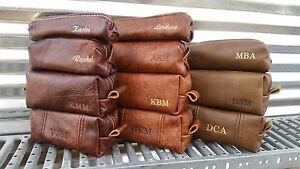 2213e492e7 Image is loading Handmade-Leather-Shaving-Bag-Dopp-Kit-Grooming-Toiletry-