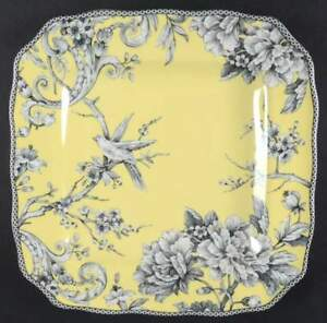 Adelaide Yellow Square Plates 222 Fifth Dinner Or Salad Your Choice Set Of 4 New