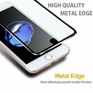For-Apple-iPhone-8-Plus-Tempered-Glass-Screen-Protector-METAL-NEW