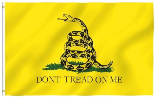 3x5 Ft Gadsden DONT TREAD ON ME Culpepper Rattlesnake Tea Party Flag Yellow
