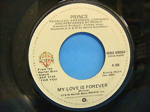 Prince-I-Wanna-Be-Your-Lover-My-Love-Is-Forever-1979-45-Warner-Bros-WBS-49050