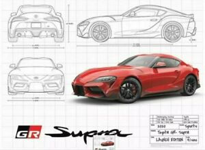 Toyota Supra GR Launch Edition 2020 Limited Edition Poster