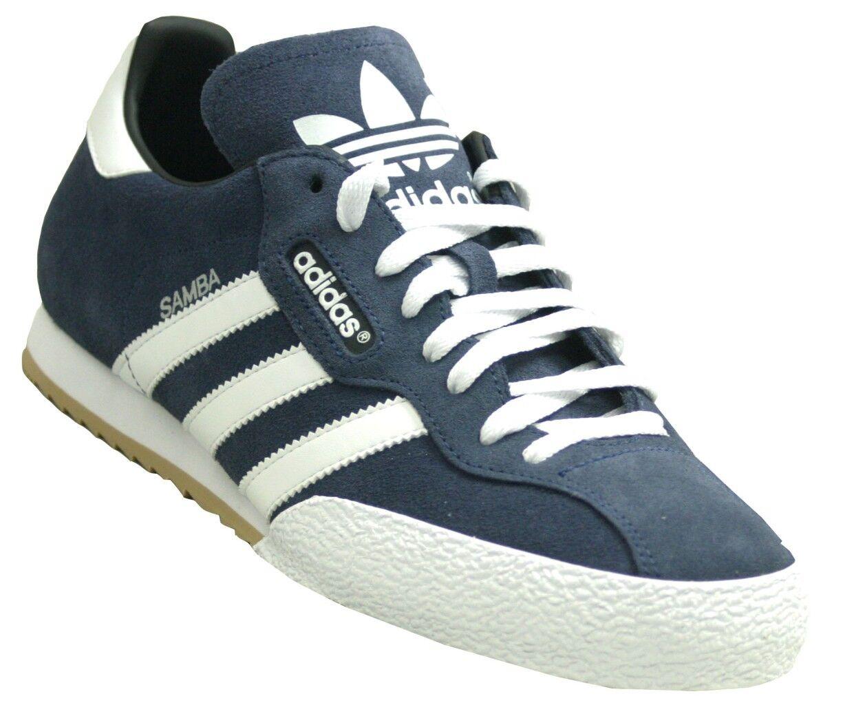 adidas Samba Mens Originals Trainers Navy Blue Suede Retro sizes 7-12   019332 Seasonal clearance sale