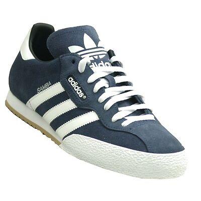 adidas Samba Mens Originals Trainers Navy Blue Suede Retro sizes 7-12   01933