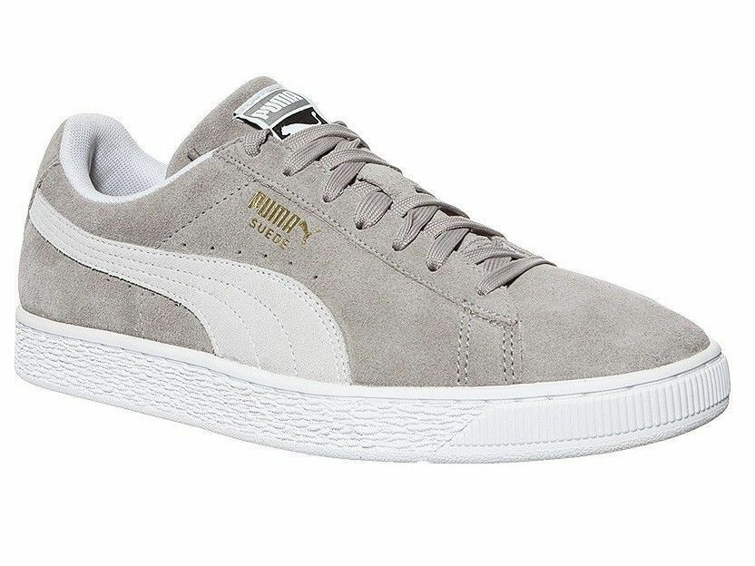 Brand New New Brand Unisex PUMA Suede Classic Trainers Ash White UK size 10.5 48452a