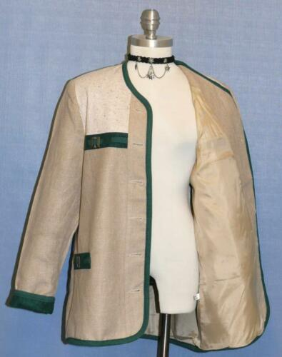 Linen Jacket Femme Walk d'été beige Cotton et Summer allemande Women en Beige Walk sur B46 coton And German Veste B46 Over manteau lin Coat 6q4Tww