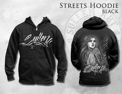 Rare  Sullen Clothing Streets Tattoo Girl City Goth Punk Hoodie Sweat Shirt M