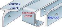 Kitchen Worktop Edging Strips  Trims End,Corner,Straight 40mm & 30mm *CHEAP*NEW*