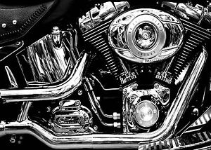 Image Is Loading SUPERB HARLEY DAVIDSON MOTORCYCLE CANVAS  231 QUALITY MOTORBIKE