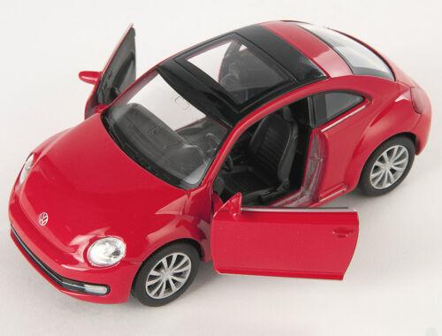 Blitz envío VW New the beetle 2012 rojo//red Welly modelo auto 1:34 nuevo /& OVP