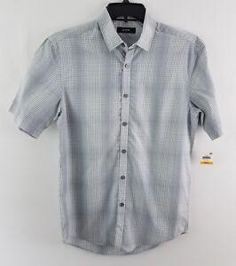 Alfani-Men-039-s-Variant-Grid-Pattern-Shirt-White-12112BW436