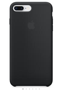 BLACK-GENUINE-ORIGINAL-Apple-Silicone-Case-For-Apple-iPhone-7-Plus-iphone-8-Plus
