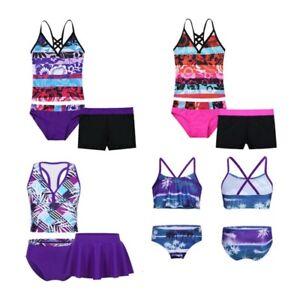 Girls-Bikini-Swimwear-Kids-Swimsuit-Outfit-Tankini-Set-Bathing-Suit-Beachwear