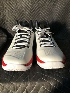 wholesale dealer a2ecd 113c1 Nike Air Jordan Melo M11, 716227-101, White/Black/Gym Red, Men's ...