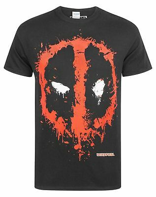 Adults New Deadpool Skull Superhero Marvel print short sleeve black t-shirt//Top